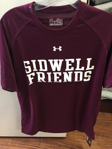 Under Armour Short Sleeve Dry Fit T-Shirt - Maroon