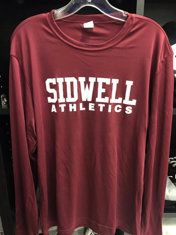 "Adult Long Sleeve Dry Fit ""SFS Athletics"" Shirt - Maroon"