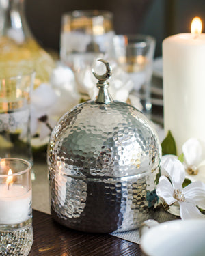 PRE-ORDER NICKEL PLEATED DOME JAR