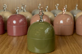 Olive Green Imperfect Dome Jar