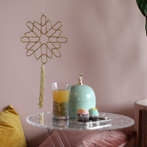 Beaded Geometric Star with Tassel Hanging