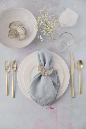 Beaded Crescent Napkin Ring
