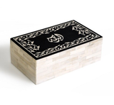 Albaraka - blessing -box bone & resin Arabic Calligraphy Islamic gift