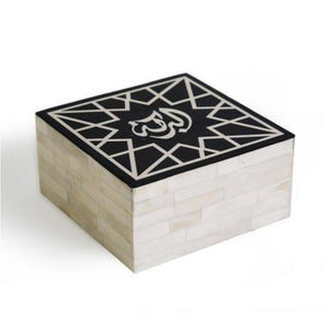Albaraka - blessing - box bone & resin  Geometric Arabic Calligraphy Islamic gift