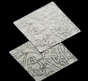 PAPER NAPKIN CALLIGRAPHY SILVER