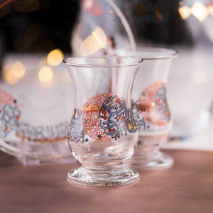 Seraj Fine Glass Teacups 6 Pcs
