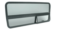 "Mercedes Sprinter CRL 2007+ 'All-Glass' Look Drivers Side Forward Window for 144"" Wheelbase"