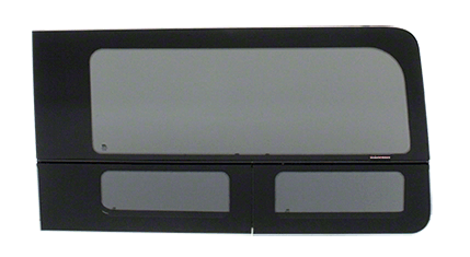 "CRL 2015+ OEM Design 'All-Glass' Look Ford Transit Passenger's Side Sliding Door Window for 130"" or 148"" Standard Body and 148"" Extended Length Body Medium and High Top Vans"
