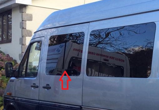 Mercedes Sprinter 2003-2006 Front Driver-Side (across from sliding door) Fixed Window Long/Short Wheel base