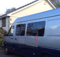 Mercedes Sprinter 2003-2006  Mid Driver-Side Fixed Window Long Wheel base