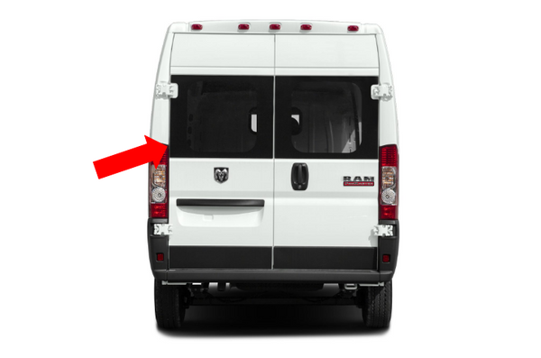"Ram Promaster Barn Door Driver-side Fixed Windows 159"" Ext/159"" Standard/136""/118"" Wheelbase"