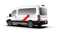Ford Transit 2015+ Rear-quarter panel Driver-side Fixed Window Medium Wheelbase - Mid/High Roof