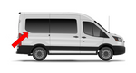 Ford Transit 2015+ Rear-quarter panel Passenger-side Fixed Window Medium Wheelbase - Mid/High Roof