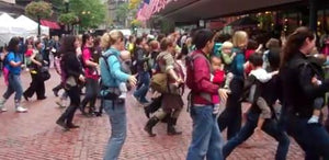 Boston Moms Rock Babywearing Week With Huge Flash Mob
