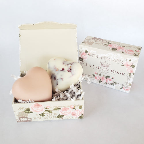 Rose Milk Soap and Rose Petal Lotion Bar Set