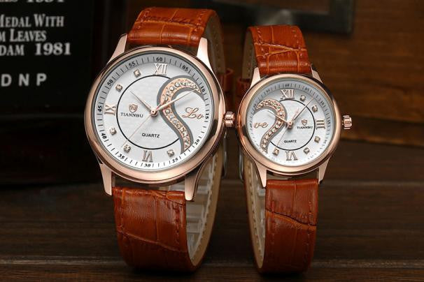 Lover's Watch - Love & Heart Pair - 2 Colors