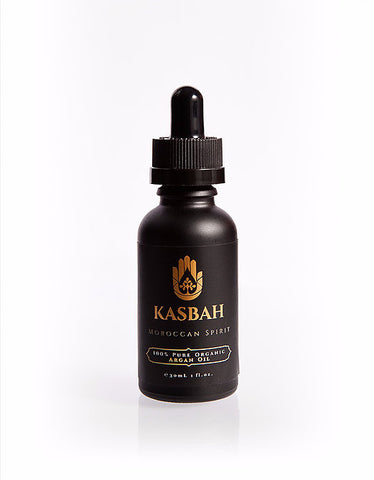 Kasbah 100% Pure Organic Argan Oil - Moisturizer, Face, Hair, Skin and Nails