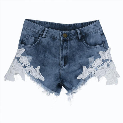 Women's High Waist Denim Jeans Shorts