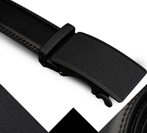 Automatic Buckle All Black Minimalist Style