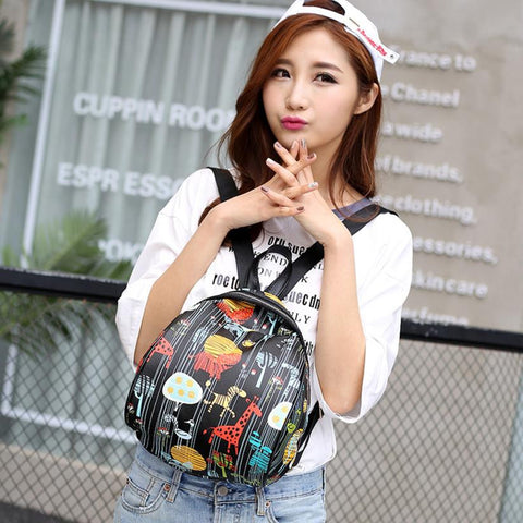 Women's Patterned Backpack - 4 Colors & Styles