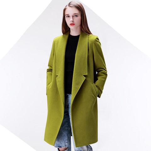 Women's Wool Winter Coat - 4 Colors