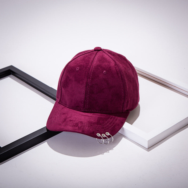 Suede Baseball Cap with 3 rings - 7 Colors & Types
