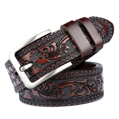 Engraved Genuine Leather Belt - 4 Colors & Styles