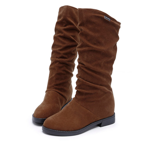Women's Stylish Flat Boots - 3 Colors