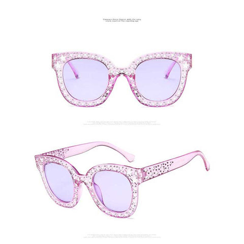 Diamond Stars Square Sunglasses - 8 Styles