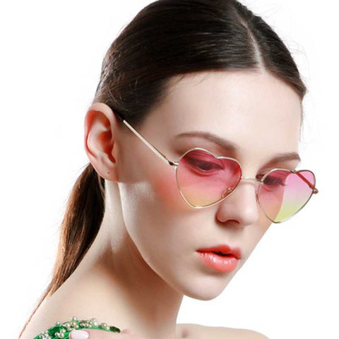 Women's Heart Gradient Sunglasses - 12 Styles