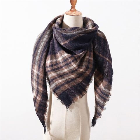 Cashmere Plaid Shawl g2