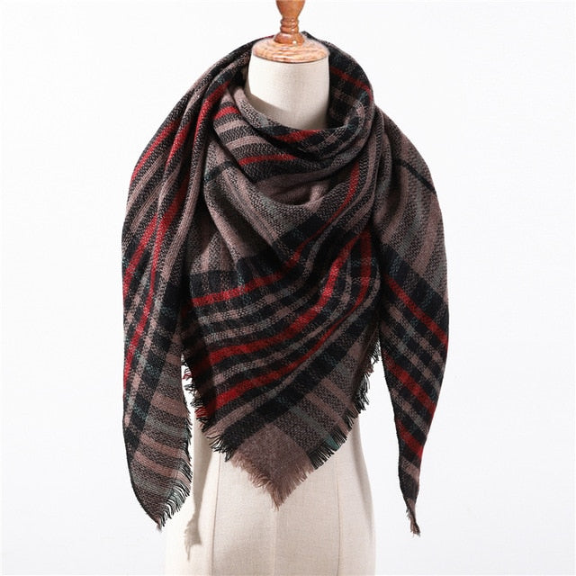 Cashmere Plaid Shawl g4