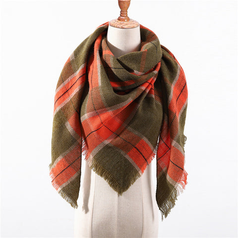 Cashmere Plaid Shawl g5