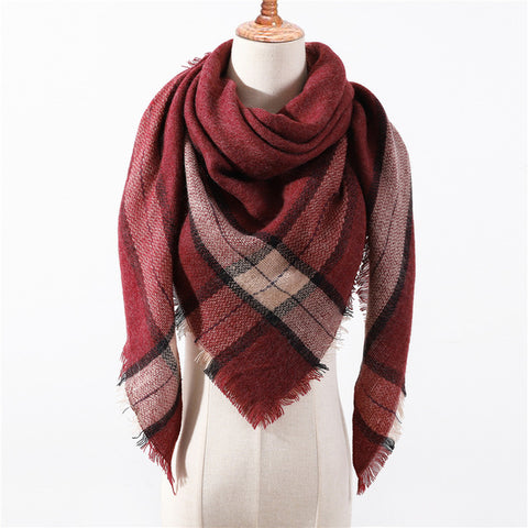 Cashmere Plaid Shawl g12