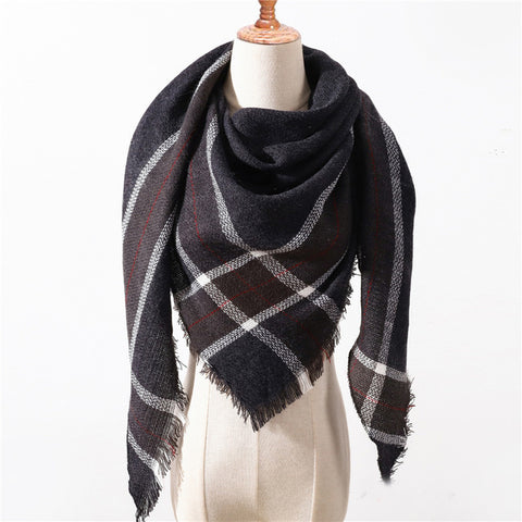 Cashmere Plaid Shawl g18
