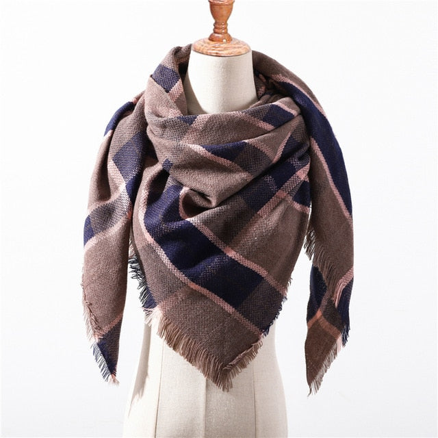 Cashmere Plaid Shawl g19