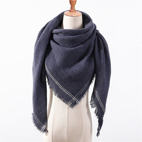 Cashmere Plaid Shawl k2