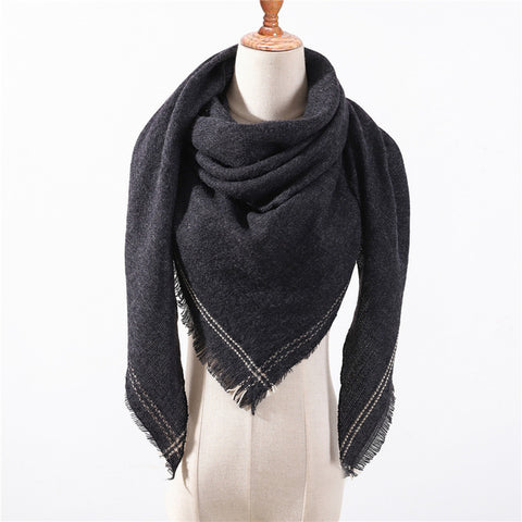 Cashmere Plaid Shawl k3