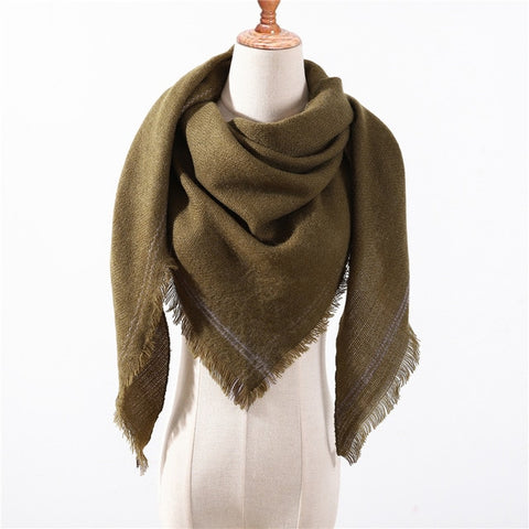 Cashmere Plaid Shawl k5