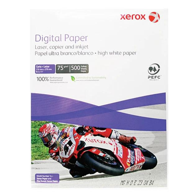 "Papel Bond Xerox, 8.5""x11"", ultra blanco"
