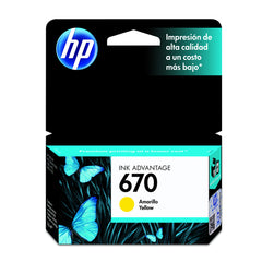Tinta HP 670, amarilla - Multimax