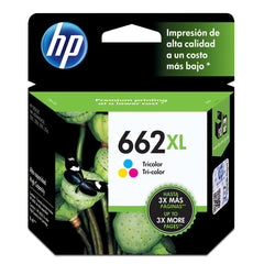Tinta HP 662XL, cartucho, tricolor, XL