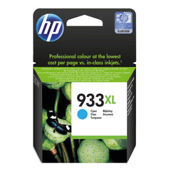 Tinta HP 933XL, cartucho, cian