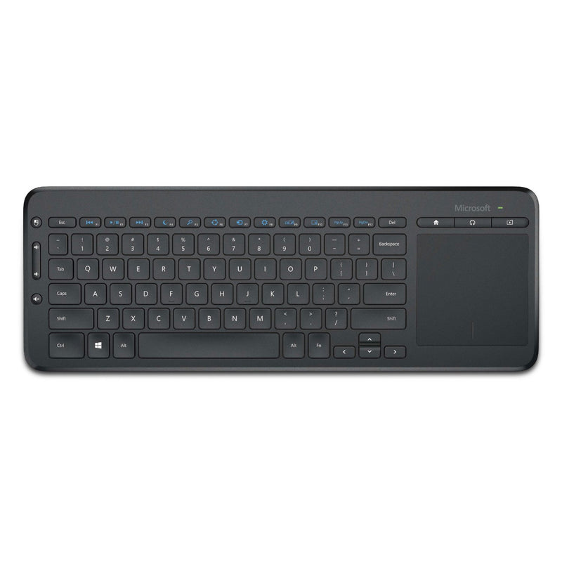 Teclado inalámbrico Microsoft All-in-One Media, español, negro