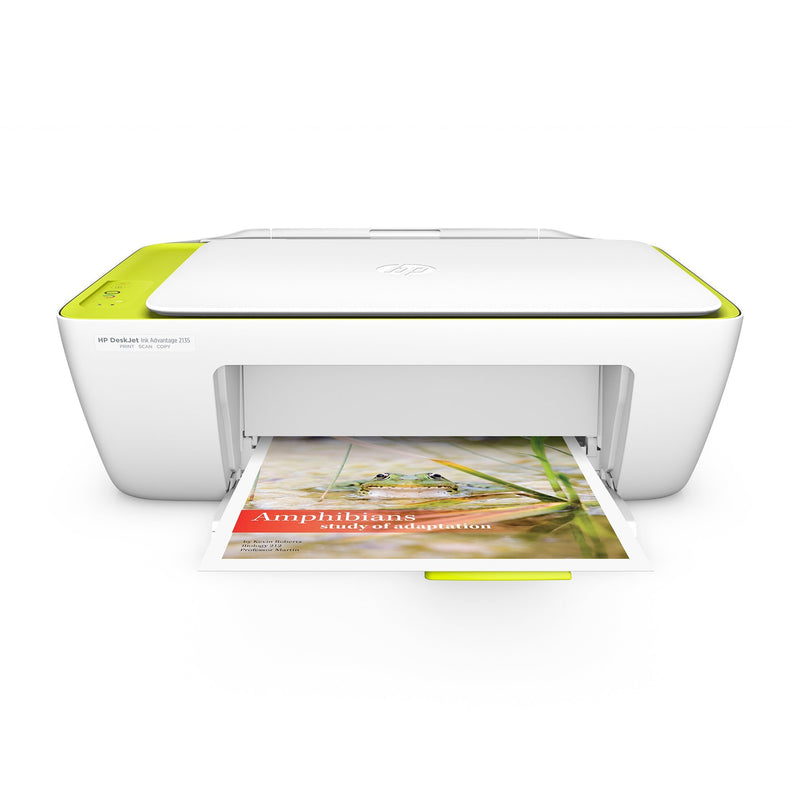Impresora Multifuncional HP Ink Advantage 2135, 7.5ppm blanco/negro, 5.5ppm a color, 4800x1200dpi