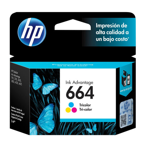 Cartucho original de tinta tricolor HP 664 Advantage (F6V28AB)