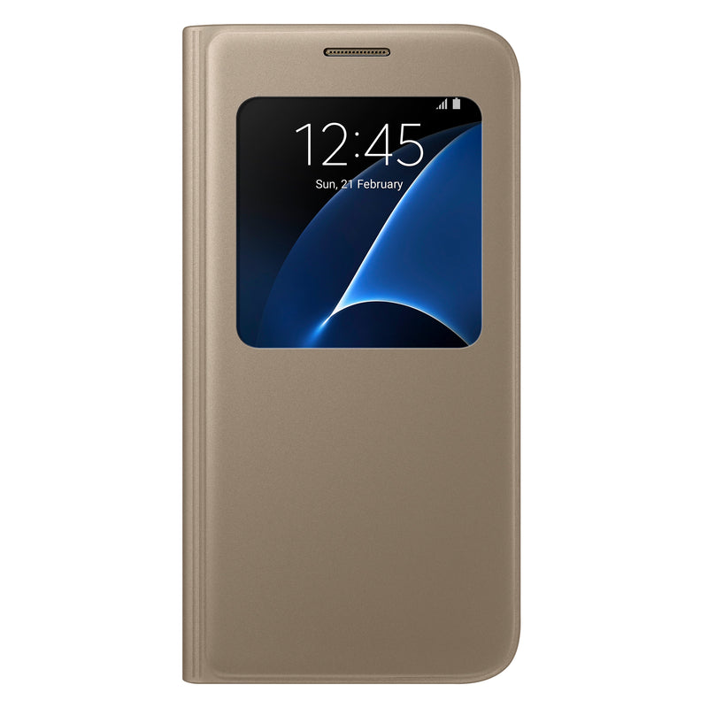 Estuche para Galaxy S7 Samsung S View Cover, gold - Multimax