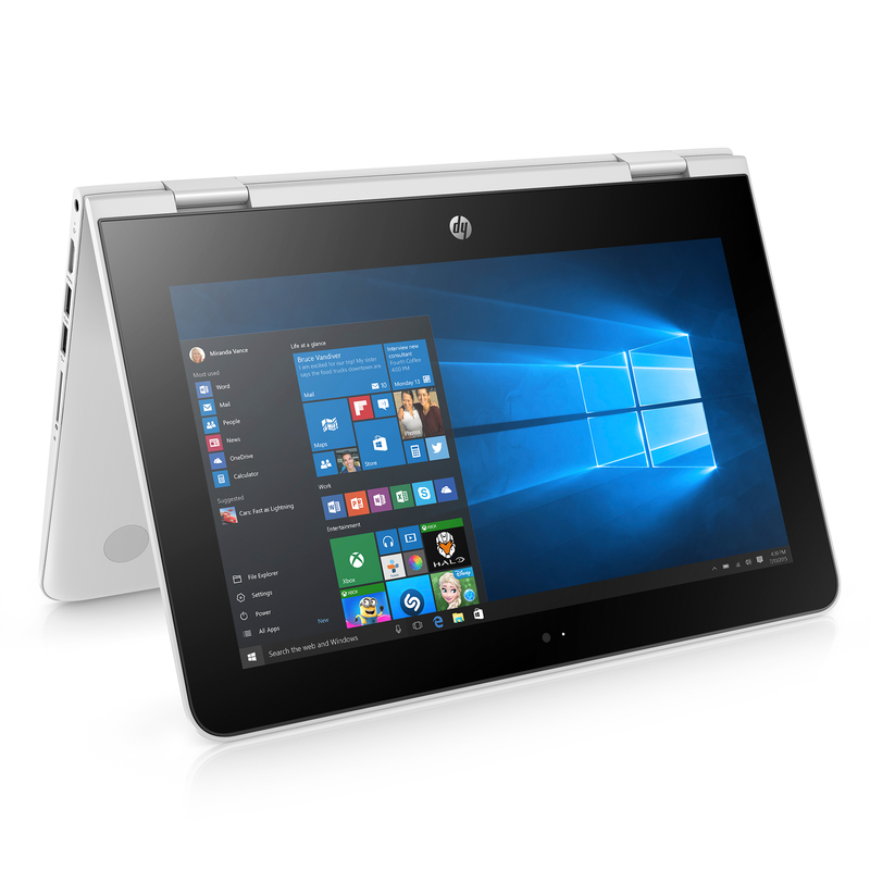 Notebook Convertible HP, Intel Celeron N3060, 4GB RAM, 500GB HD, Windows 10