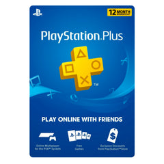 PlayStation Plus 12 meses + cargo por servicio
