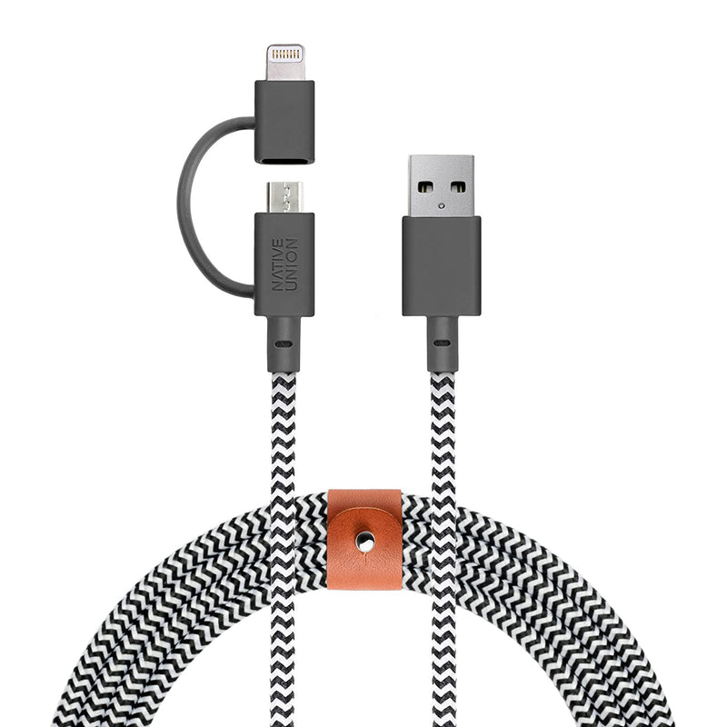 Cable Lightning/micro USB Native Union Braided Twin Head, 2 metros